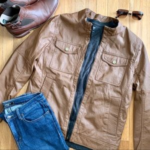 *NEVER WORN* Tan Moto Jacket US M